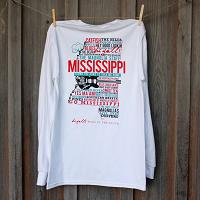 Mississippi Home White Long Sleeve