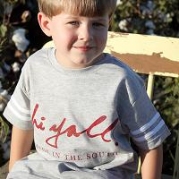 Toddler Gray Football Tee