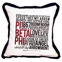 Pi Beta Phi, 20x20 pillow