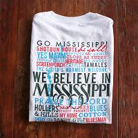 Celebrate Mississippi! White Long Sleeve