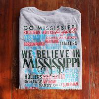 Celebrate Mississippi! Gray Long Sleeve