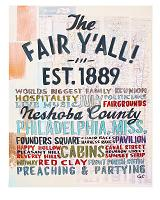 The Fair Y'all print