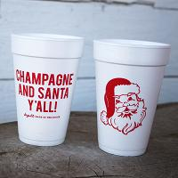 Champagne and Santa Y'all! Cups