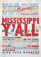 Mississippi Y'all! 18x24 Print
