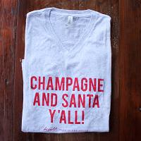Champagne And Santa Y'all!