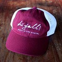 Youth Maroon and White Cap