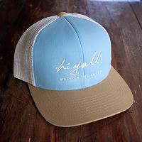Blue and Tan Structured Cap