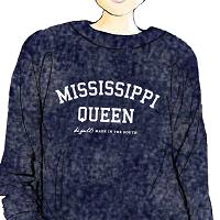 Mississippi Queen Woolly Pullover Navy