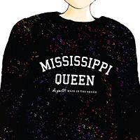 Mississippi Queen Woolly Pullover Confetti Black