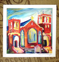 West Point, MS Methodist Church 11x11, signed & numbered